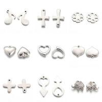 304 Stainless Steel Pendants Bracelet Charms Multi Shape Jewelry DIY Crafts