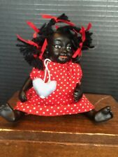 Vintage and Unique Super Cute 5� Beautiful Black Baby Doll.