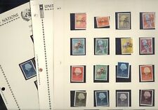 UNITED NATIONS, Untea, 2 complete  MINT NH Sets of Stamps mounted on pages