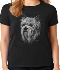 Yorkshire Terrier Yorkie Face T-shirt for Women Ladies Tee Dog Breed Gifts