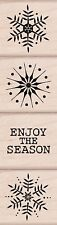 Enjoy The Season Rubber STAMPS LP209 Hero Arts Set of 4 BRAND Snowflakes