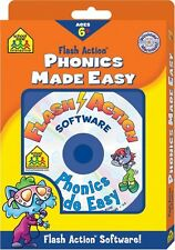 New Flash Action Software Phonics Made Easy School Zone Interactive Ages 6+