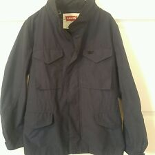 Levis Men's Rain Jacket Size M Navy Blue