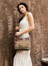 Myra Bag Leather Rug Canvas Luguni CrossBody Purse Upcycled Adjustable Strap NWT