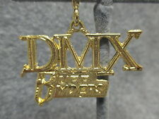 "NOS DMX RUFF RYDERS Hip Hop Rapper Bling Shiny Gold Tone Pendant Charm  2"" Long"