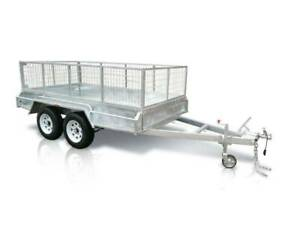 10 x 6 ft Tandem Heavy Duty Box Trailer ATM 2000kg (TRAILER ONLY CAGE EXTRA)