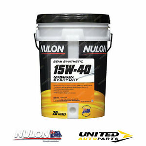 NULON Semi Synthetic 15W-40 Engine Oil 20L for RENAULT R10 R10S 1.2L 1964-1971