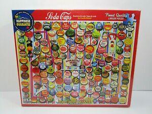 """White Mountain Puzzle SODA CAPS #1060 1000 Pieces 24""""x30""""  NEW SEALED"""