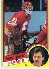 Rejean Lemelin 1984 Topps Autograph #25 Flames
