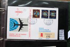 FIRST FLIGHT SWISSAIR GENEVE RIO DE JANEIRO (F110809)
