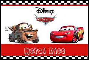 Cars 3 Disney Licensed Metal Dies by Character World 7 designs  NEW!