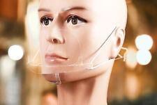 Mund Nasen Visier transparent Gesichtsmaske Gesichtsschutz Gesichtsvisier