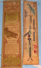 Early Weber Fishing Fish Hooks Pkg & Strip On Spinner on Card