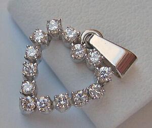 Brillant Diamant Herz Anhänger in aus 585 14kt Gold Herzchen Brillanten ღ 7468 ღ