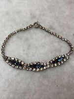 1950s Link Bracelet Glass Paste Aurora Borealis Vintage Jewellery Jewelry Retro