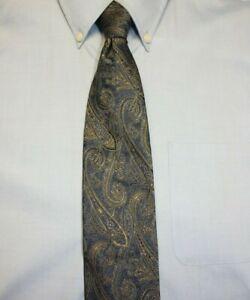 Sacks Fifth Avenue Men/'s Vintage Necktie Blue-Yellow-Paisley 4width Silk