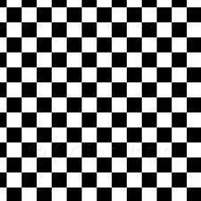 1: 12th classique noir et blanc damier Design tuile feuille
