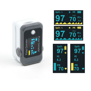 FDA APPROVED FINGER PULSE OXIMETER DUAL COLOR OLED SpO2 HEART RATE FREE CASE