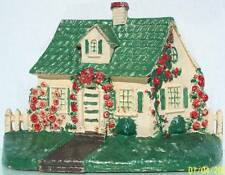 NATIONAL FOUNDRY CAST IRON NO.32 CAPE COD COTTAGE WITH PICKET FENCE EX