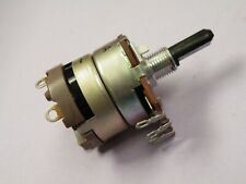 10K Linear Pot. DPST Switched Pull On   NO NUTS supplied 6mm Spindle+Flat K018