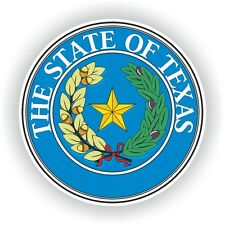 Seal Sticker of Texas State United States bumper stickers decals USA Truck Door