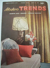 Coats & Clarks Modern Trends Hairpin Lace Crochet Swedish Weaving Pattern Book