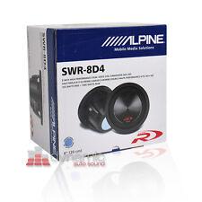 "ALPINE SWR-8D4 Car 8"" Dual 4 ohm Type-R Audio Subwoofer 1,000 Watts Sub New"