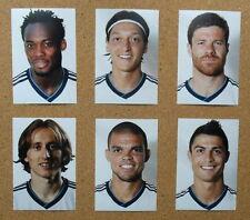 Seis fotos de fútbol Real Madrid > 2012-13 jugador retratos Inc Ronaldo, Modric, Pepe