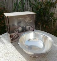 "Gorham Silverplate Paul Revere Footed 8"" Bowl Liner Box YC780 Vintage"