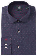 Original Penguin Oxford Long Sleeve Samba Red Shirt Heritage Slim M New