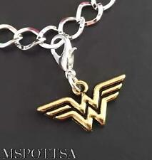 Wonder Woman Bracelet Charms Clip Ons Purse Zipper Pulls Superheroes Comics