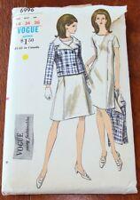 Vintage 1960's VOGUE Dress & Jacket Sewing Pattern Bust 34