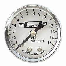 "Mr. Gasket 1561 1 1/2"" Universal Gas Fuel Pressure Gauge 0-15psi with 1/8"" NPT"