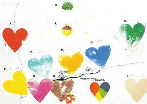 Kunstkarte  - Herzen - Jim Dine: Die Welt