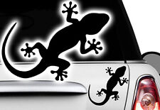 2x Gecko 16x10,5cm Autocollants Pour Voiture Hawaï Sticker Tattoo Gekko HIBISCUS