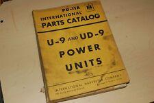 IH INTERNATIONAL U-9 UD-9 POWER UNIT GENERATOR Parts Manual Book Catalog diesel