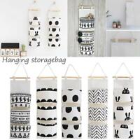 3 Pockets Hanging Storage Bag Door Wall Basket Organizer Home Toy Holder Pouch