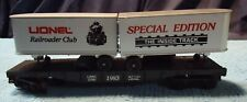 Lionel O Scale 6-0781 Railroader Club Flat Car With Vans In The Box.