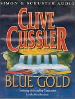 Clive Cussler Blue Gold 4 Cassette Audio Book Numa Series Thriller