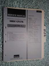 Sansui T-E70 L service manual original repair book stereo tuner receiver radio
