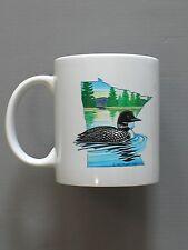 Minnesota Coffee Mug Original Art Loon State Bird Lakes, Trees, NEW