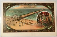 Atlantic City New Jersey Heinz Ocean Pier Postcard Pickle Logo