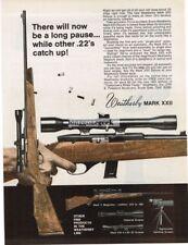 1970 Weatherby Mark XXII .22 Cal Rifle Vtg Print Ad