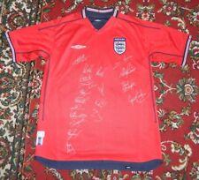 2004 England Squad Signed Football Shirt 19 Signatures Beckham Gerrard etc.