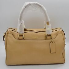 #H515 NEW Coach Legacy Leather Haley Satchel Mustard $