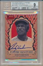 2013 Panini America's Pastime Signatures #92 Rickey Henderson BGS 9 and 10 Auto