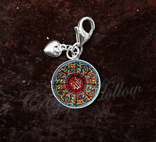 925 Sterling Silver Charm Mosque Brunei Islam Stained Glass Image
