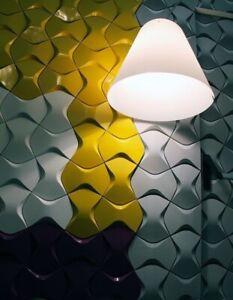*BOWKNOT* Set 5pcs mold 3D Decorative Wall Stone Panels Form Plastic for Plaster