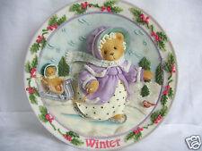 Cherished Teddies Winter Plate #203416 Priscilla Hillman