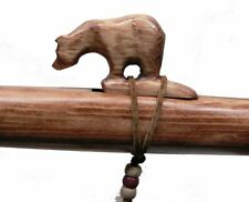 Authentic Native American BEAR Flute handmade by Jonah Thompson in the key of A